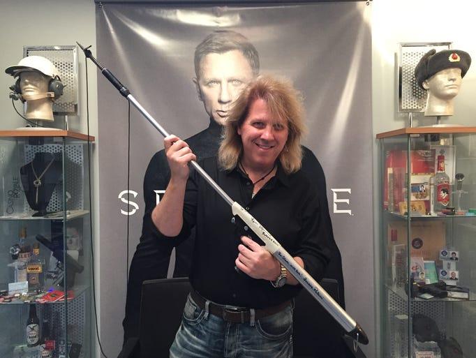 York James Bond prop collector David Starr holds  a