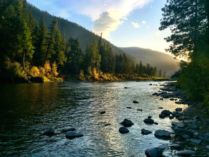 Angevine Fishing Access, Blackfoot River near Missoula
