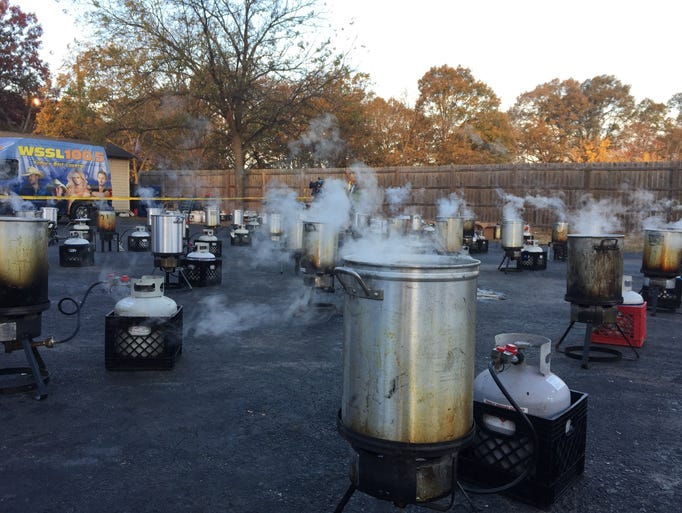 About 500 turkeys will be friend over the course of