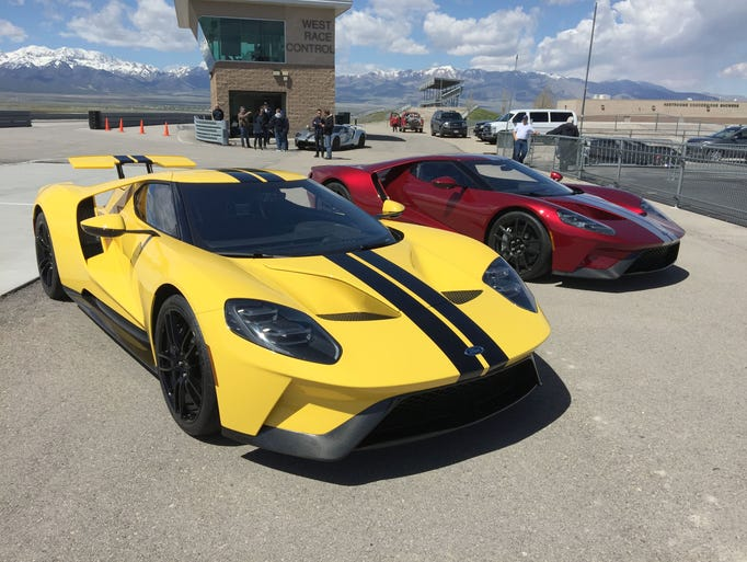The 2017 Ford GT on the track at Utah Motorsports Campus,