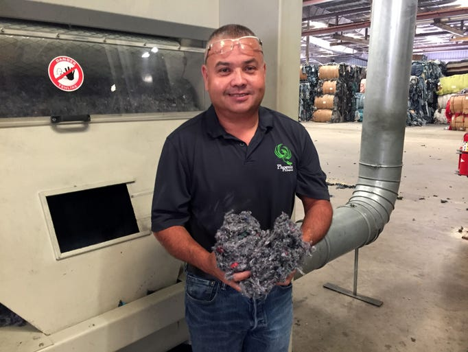 Steve Johnson, plant manager for clothing recycling