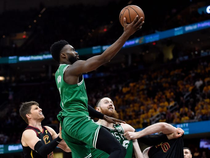 May 21: Jaylen Brown attempts a layup during the forth
