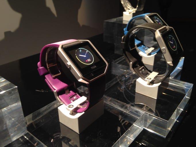 The new Fitbit Blaze.