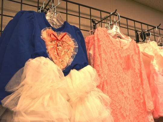 Children's clothing at Pretty Please Boutique in Kewaunee.