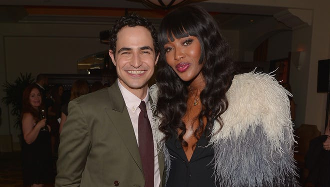 Fashion power couple: Zac Posen and Naomi Campbell.