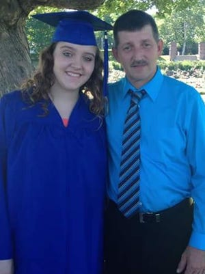 Michael Frisch and his daughter, Ashley. Michael was riding his bike when he was struck by a vehicle Oct. 25.