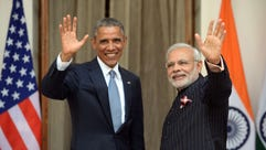 Indian Prime Minister Narendra Modi and President Obama