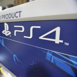 A Sony PlayStation 4 console display is viewed in this Nov. 14, 2013 photo in a Best Buy store on the upper East Side of Manhattan, in New York.   M