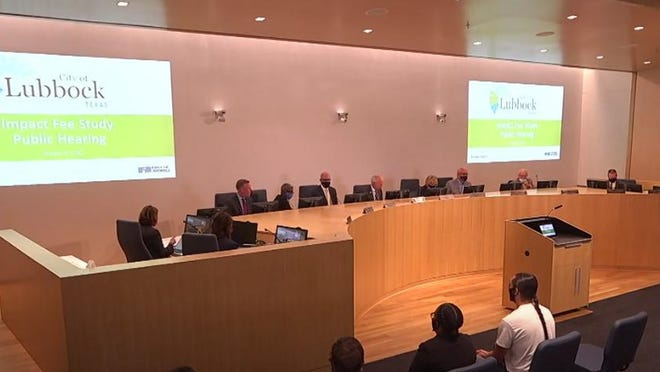 The Lubbock City Council hosted a public hearing on Tuesday, Oct. 6 about impact fees.