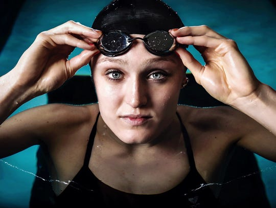 U of L national champion swimmer and Olympic hopeful Kelsi Worrell, in 2016.