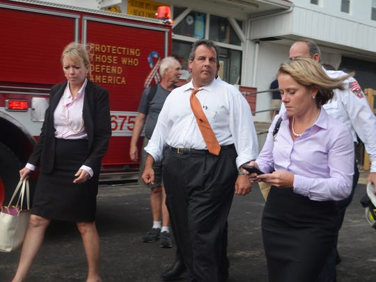 Gov. Chris Christie and Deputy Chief of Staff Bridget Anne Kelly on Sept. 12, 2013.