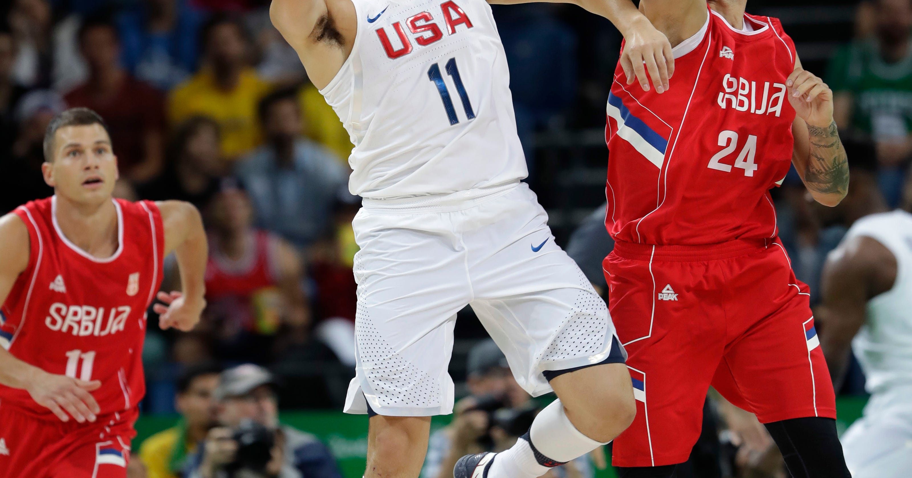 c6266fd47 Another scare  US men s basketball team edges Serbia 94-91