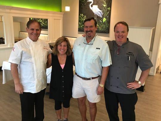 Chef John Folse, Jenny and Brian Flournoy, Chef Frank