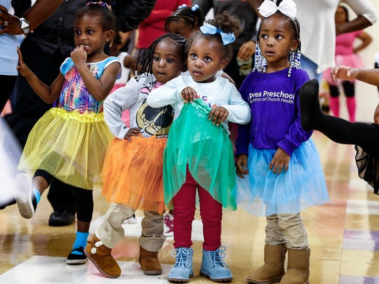 Students at Perea Preschooler were treated to a ballet class and tea party during an event taught by Ballet Memphis.