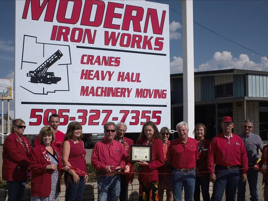 The new owners of Modern Iron Works Company, located at 3101 Bloomfield Hwy., recently held a ribbon cutting event.