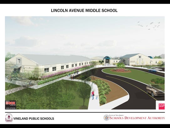 Artist rendering of Lincoln Avenue Middle School