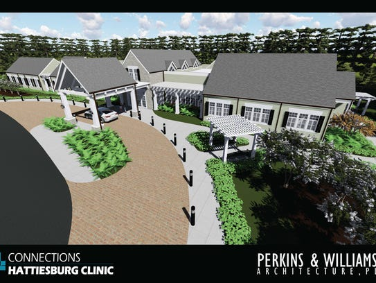 An architectural rendering of Hattiesburg Clinic's