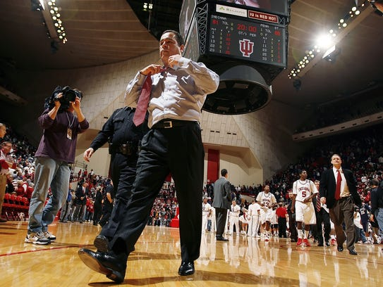 FILE – IU was put on probation by the NCAA for violations