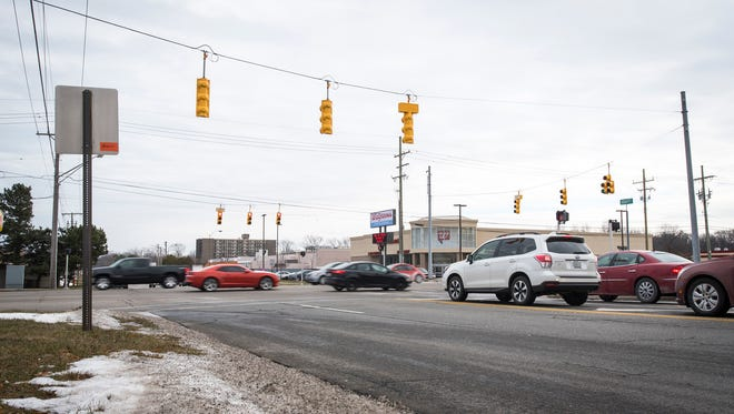 Cars cross Krafft Road on M-25 in Fort Gratiot Tuesday. In 2016, the intersection had 30 accidents occur in it, which was the highest number of any intersection in St. Clair County.