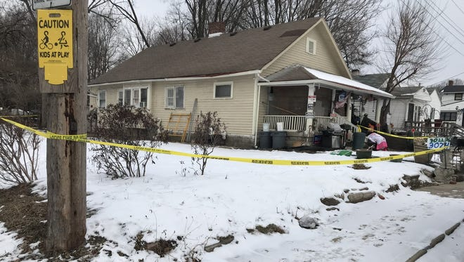 A man was found dead Sunday in this house in the  3000 block of N. California St.