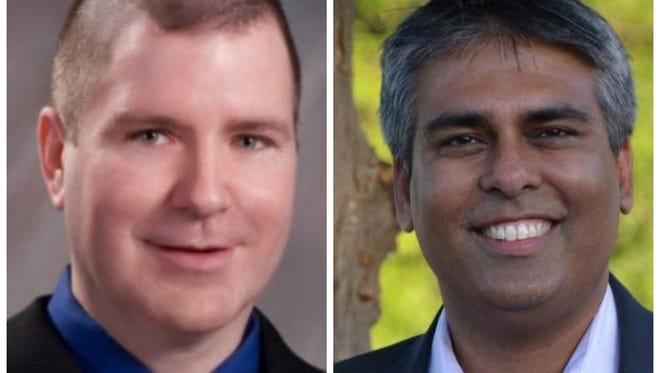 Frank Lambert, left, Sam Singh