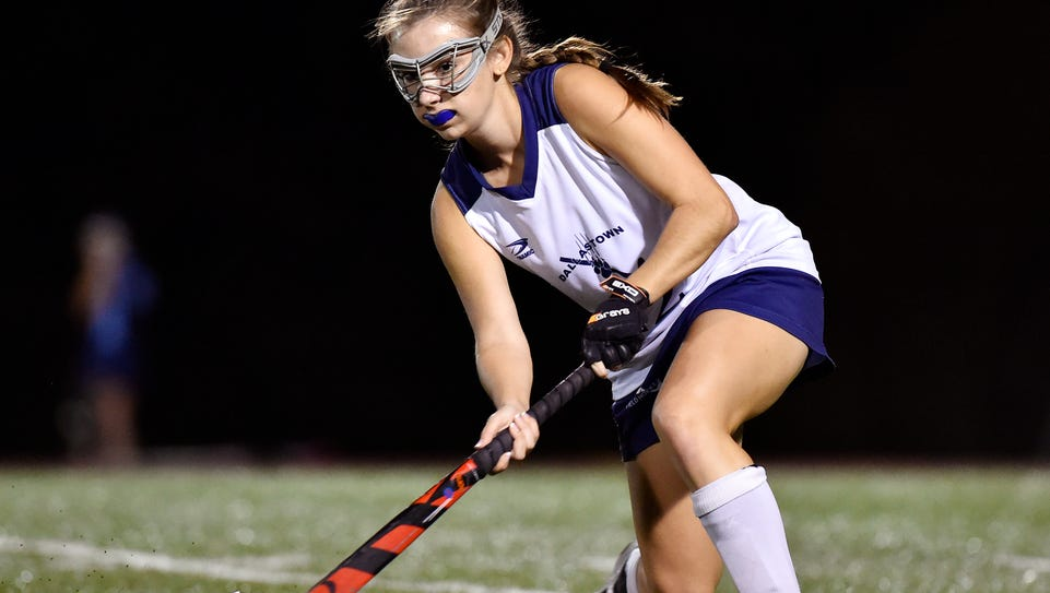 Dallastown's Sophie Beeler prepares to pass against