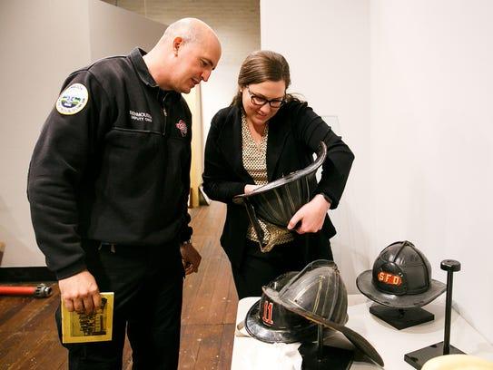 Salem Deputy Fire Chief Gabriel Benmoussa, left, and