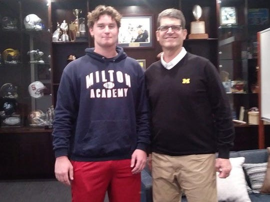 Greg Crippen of Milton Academy is transferring to IMG Academy (Photo: 247Sports)