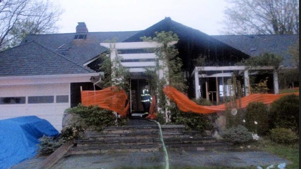 Michael Pasqua was barred from the Village of Mamaroneck Fire Department following his actions at the scene of a fire at this home on Seahaven Drive on April 16, 2010.