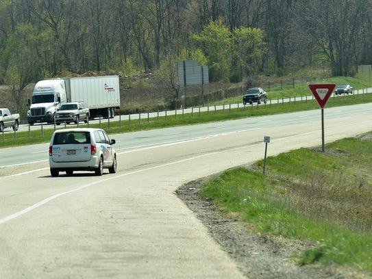 The Walnut Bottom Road exit Interstate 81 is on the