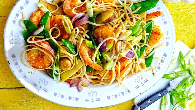 Chow Mein with Shrimp is a quick supper stir-fry.