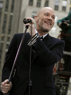 Michael Stipe and R.E.M. perform in 2008 in New York.