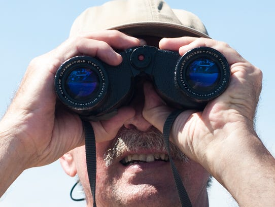 Fred Eckfeldt of Selbyville searches for diamondback