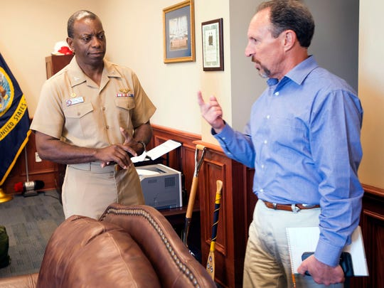 Capt. Keith Hoskins, commanding officer at Pensacola