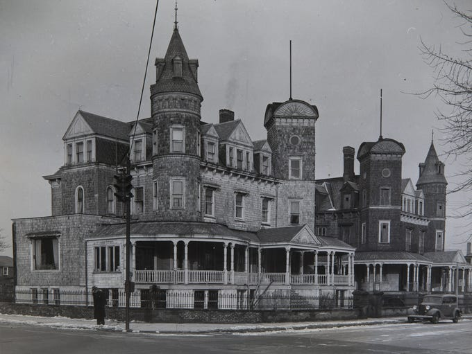 undated  The twin mansions that stood almost half a