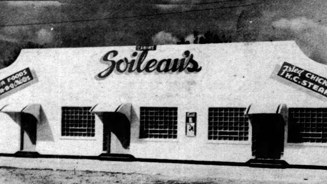 Outside of Soileau's Dinner Club in 1947.