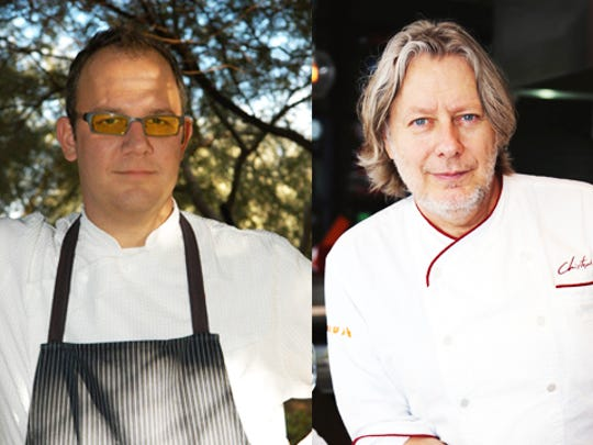Chefs James Porter (L) and Christopher Gross will deliver