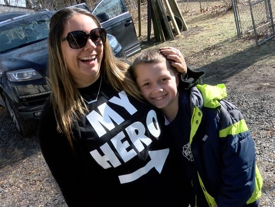 Nicole Sorchinski is shown with her 'hero' son Jace