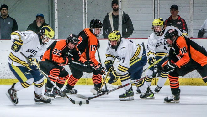 Hartland beat Brighton, 3-2 in overtime, when the teams met on Nov. 30. Saturday's meeting at Hartland Sports Center will be for the KLAA Association championship.
