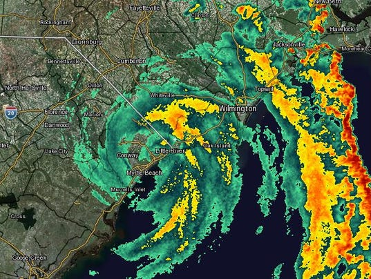 Knitting Up A Storm North Myrtle Beach : Tropical storm ana makes landfall at myrtle beach