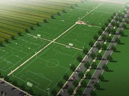 A rendering of the new multi-purpose fields that will be installed along East Vista Lake Drive if the 2015 Polk City bond referendum passes.