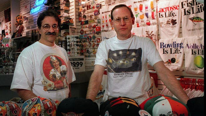 Eric Tesler, right, and Mark Sinesiou, who owned the Shed House, at their store in the former Irondequoit Mall.