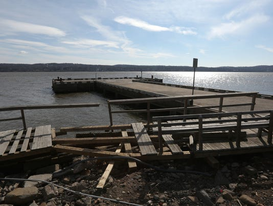 Piermont Pier storm damage