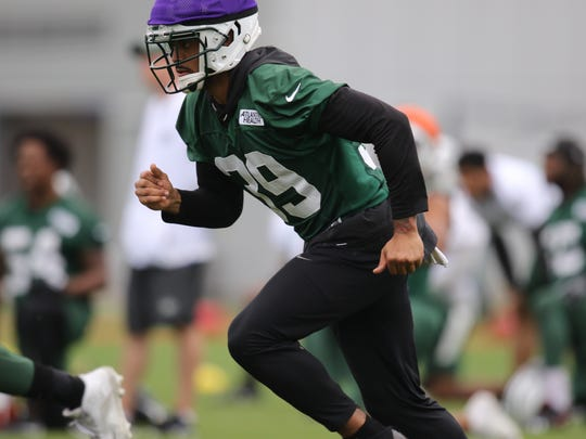 Kacy Rodgers II is shown during Jets Minicamp, Wednesday, June 13, 2018.