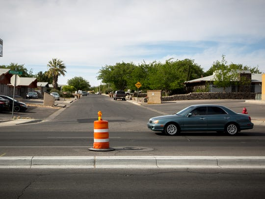 A new median has been built on Missouri Avenue which