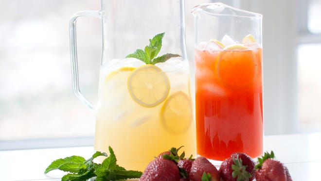 Rocking Chair Lemonade, left and Strawberry Lemonade are two refreshing variations on a summer classic.