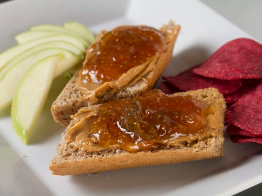 The classic peanut butter and jelly sandwich can be
