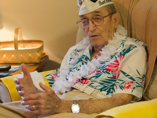 Robert E. Coyne of Lehigh Acres talks about the attack on Pearl Harbor and his years of service in the U.S. Navy.