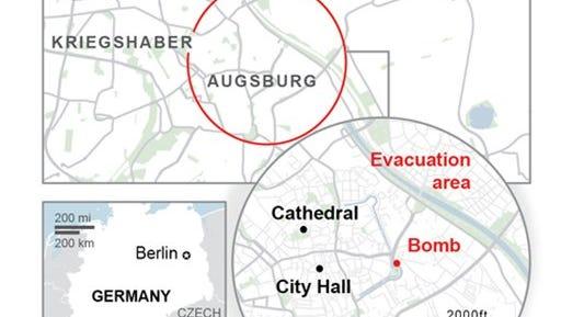 WW2 bomb forces mass evacuation.