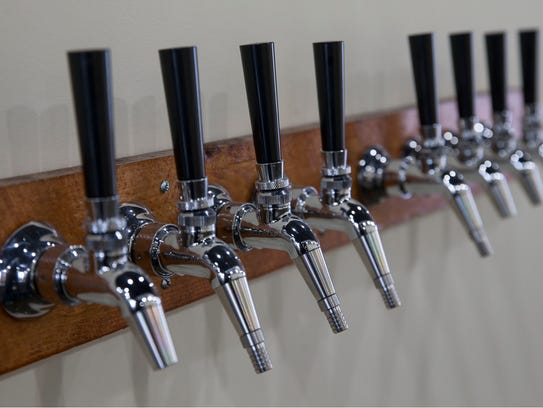 The taps are ready to go at Raritan Bay Brewing.